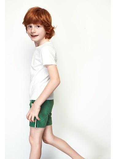 Nebbati Erkek Çocuk Yeşil Şort 19SS0NB3101 Yeşil